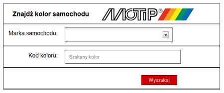 Wyszukiwarka kolorów MOTIP
